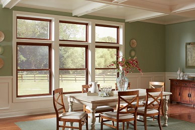 Double Hung Windows with Transoms